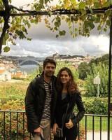Lyndsy Fonseca and Noah Bean on Honeymoon in Portugal