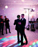 grooms on dance floor
