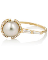 Monique Pean Pearl Engagement Ring