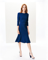 Oscar de la Renta Wool Crepe Dress