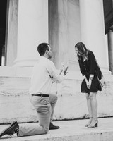perfect proposals at memorial building steps