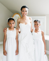 pillar paul wedding bride and flower girls