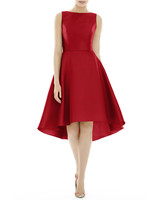 red High-Low Cocktail Dress