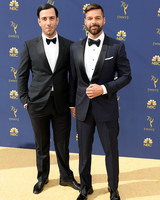 ricky martin and jwan yosef at the 2018 emmys