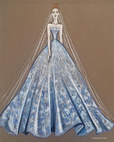 sereh nouri wedding dress sketch