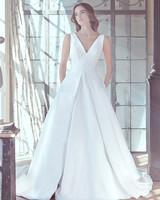 sareh nouri wedding dress spring 2019 v-neck a-line gown