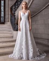 sareh nouri v-neck sheath wedding dress spring 2020