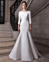 sareh nouri long sleeve a-line wedding dress spring 2020