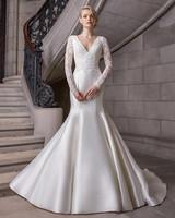 sareh nouri v-neck long sleeve wedding dress spring 2020