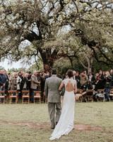 shannon jason wedding processional bride father