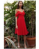short bridesmaid dresses jenny yoo red