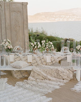 sparkling wedding décor