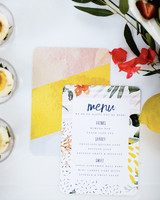 Bright-Patterned Menus