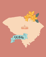 state wedding costs illustration south carolina