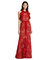 red lace gown