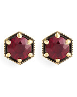 red rubby earrings
