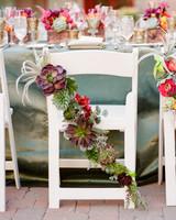 succulent chair decorations
