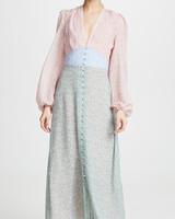 Divine Heritage Button-Up Midi Dress