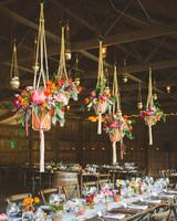 terra cotta decor hanging floral installment
