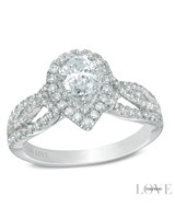 Vera Wang Pear-Cut Engagement Ring