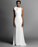 high neck viktor rolf sheath wedding dress spring 2019