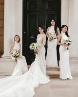 white bridesmaid dresses lara hotz