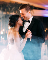 yolana douglas wedding couple first dance