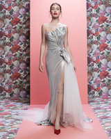 Galia Lahav wedding dress spring 2019 silver strapless sheath