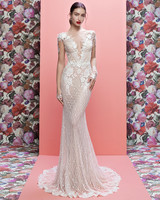 Galia Lahav wedding dress spring 2019 lace cap sleeve v-neck sheath