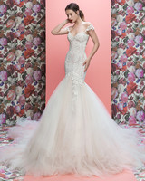 Galia Lahav wedding dress spring 2019 lace off-the-shoulder trumpet
