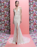 Galia Lahav wedding dress spring 2019 off-the-shoulder v-neck trumpet