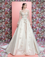 Galia Lahav wedding dress spring 2019 long sleeve sweetheart ball gown