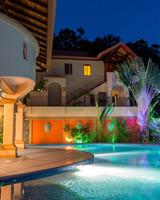 air bnb wedding venue swimming pool of costa rican mansion