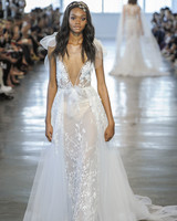 Berta Sheer V-Neck Wedding Dress Fall 2018