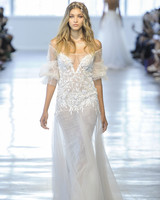 Berta Sheer Off-the-Shoulder Wedding Dress Fall 2018