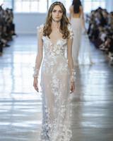 Berta Sheer Floral Long Sleeves Wedding Dress Fall 2018