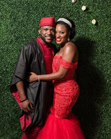 bride and groom nigerian reception outfit change
