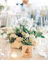 cloche wedding centerpiece