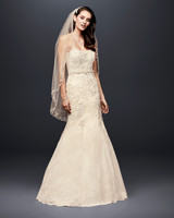 david bridal wedding dress spring 2019 strapless off white trumpet