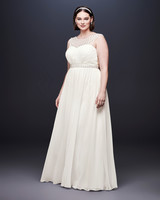 david bridal wedding dress spring 2019 sleeveless a-line boatneck