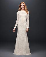 david bridal wedding dress spring 2019 long sleeves lace high neck
