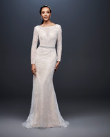 david bridal wedding dress spring 2019 long sleeves beaded high neck