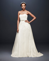 david bridal wedding dress spring 2019 strapless a-line sweatheart