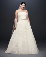 david bridal wedding dress spring 2019 lace a-line strapless