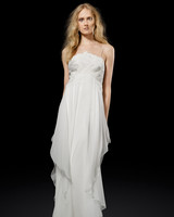 Elizabeth Fillmore Simple Chiffon Weding Dress