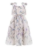 floral flower girl dress