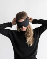 gifts for mom black silk sleep mask