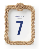 Rope and Knot Table Numbers