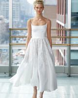 gracy accad wedding dress spring 2019 spaghetti strap ballerina tea length