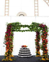 colorful chuppah